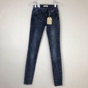Mind Code LA Dark Acid Wash Jeans Jeggings Size 0